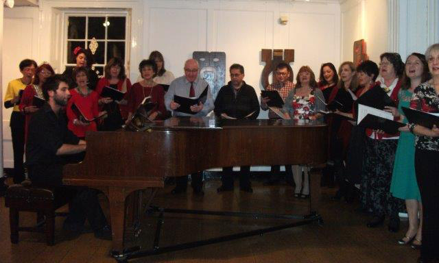 Group around piano - Cropped